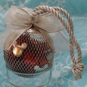 1999 Disney Silver-Tone  Potpourri Ornament